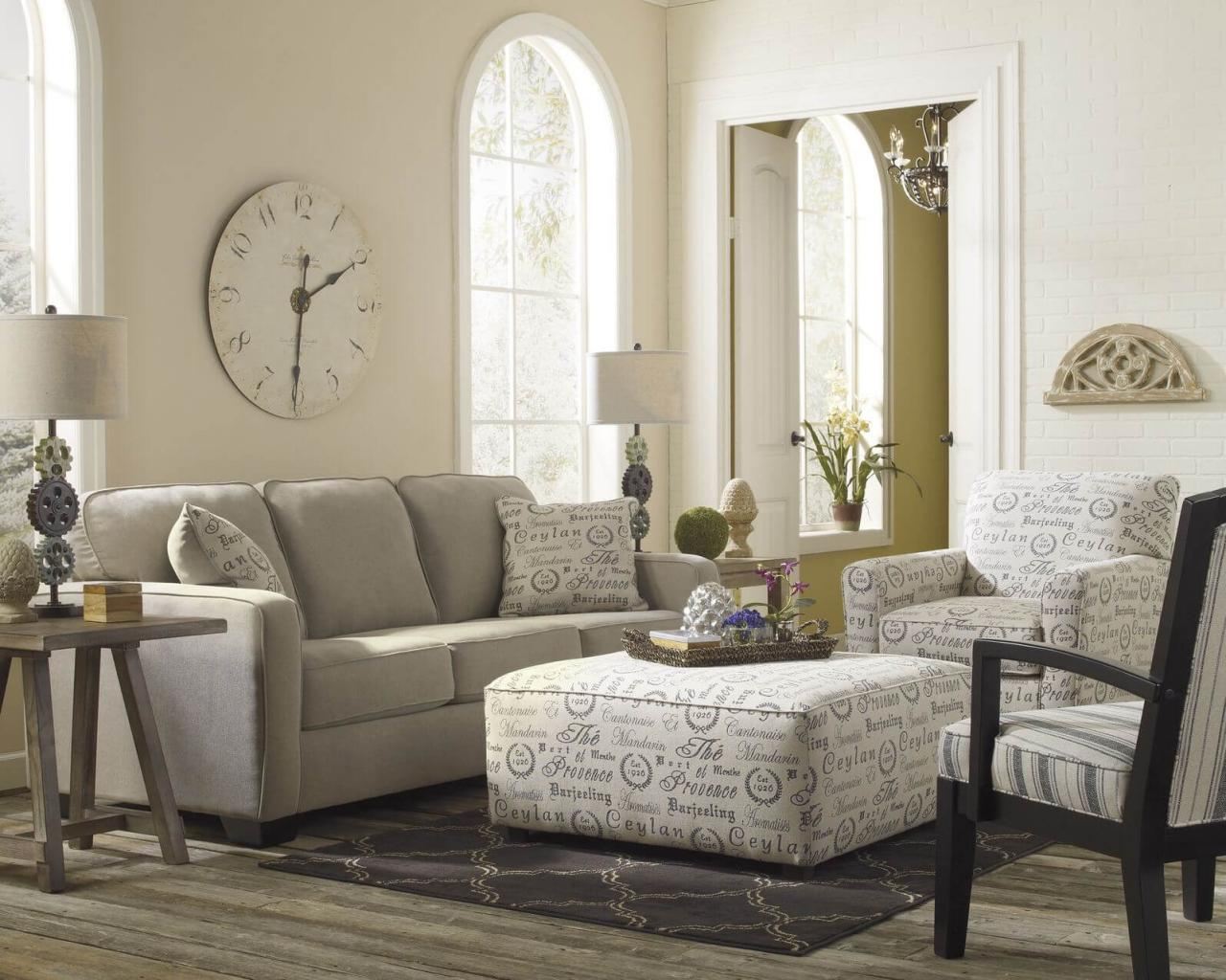 A cozy beige living room radiating hospitality