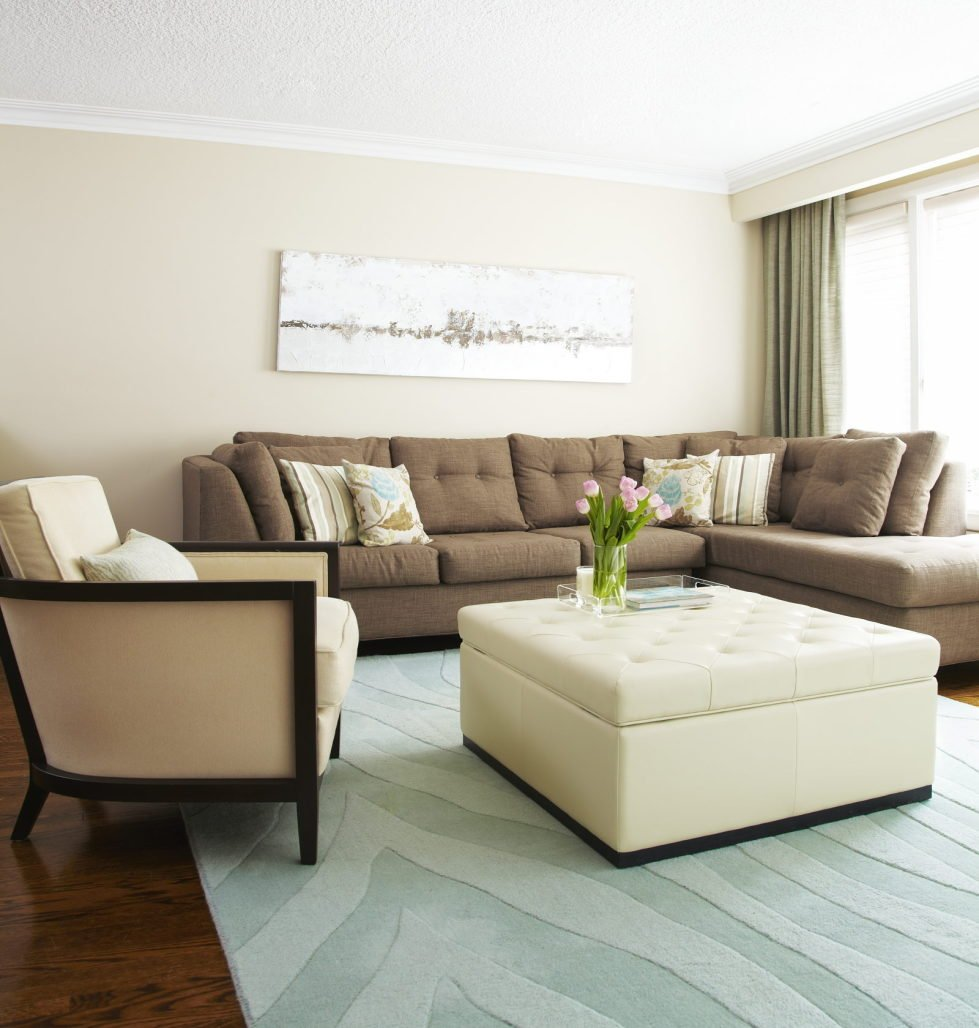 Beige variety within a neutral living room