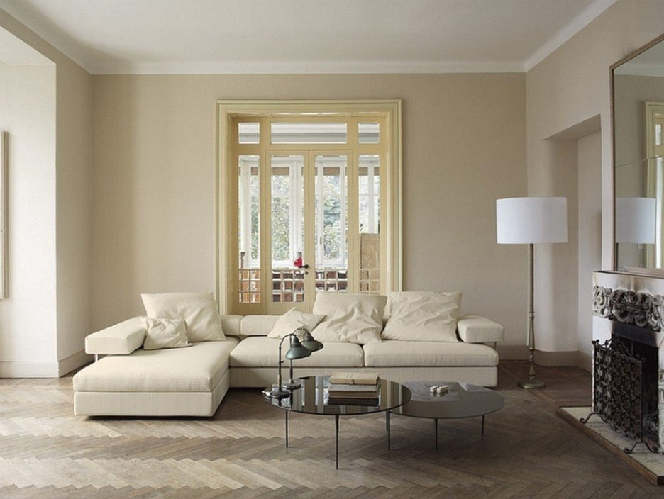 Delicious subtleness of a cream living room