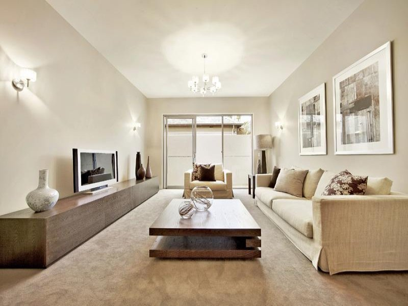 Luscious living space with delicate wooden elements