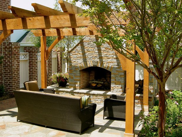 Outdoor Fireplace Inspiration 23