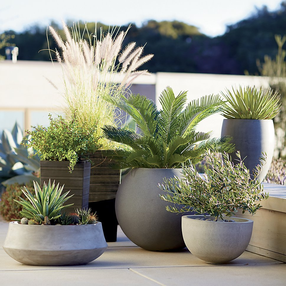 Jardineras de Crate & Barrel