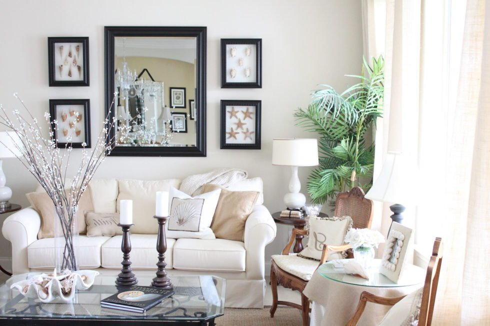 The brightest hues of beige will light up the room